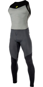 2019 Magic Marine Mens Air Rash Long John Dark Grey 180027