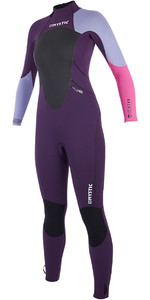 2019 Mystic Womens Star 5/4mm Back Zip Wetsuit Purple 180029
