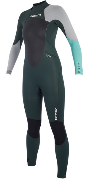 Muta 2019 Mystic Women Star 5 / 4mm Zip posteriore Teal 180029