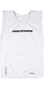 2019 Magic Marine Junior Brand ärmelloses Oberteil Weiß 180045