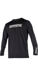 2019 Mystic Star Long Sleeve Loosefit Quick Dry Rash Vest Black 180106