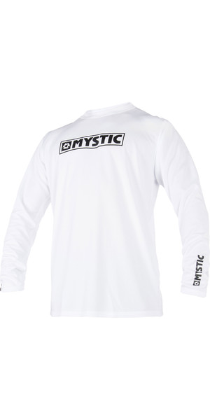 2019 Mystic Star Long Sleeve Loosefit Quick Dry Rash Vest White 180106