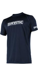 2019 Mystic Star Short Sleeve Loosefit Quick Dry Rash Vest Navy 180107
