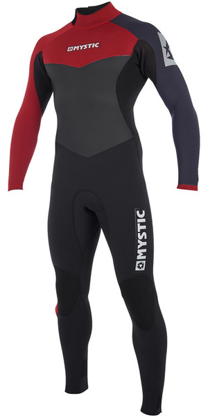 2019 Mystic Drip 5/4mm Back Zip Wetsuit Bordeaux 190009
