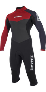 2019 Mystic Drip 4/3mm Lange Arm Korte Been Back Zip Wetsuit Bordeaux 190010