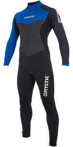 2019 Mystic Drip 3/2mm Back Zip Wetsuit Blue 190011