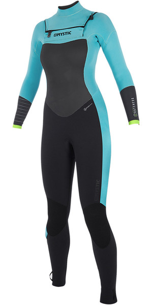 2019 Mystic Dutchess Womens 5 / 4mm Doppelreißverschluss Wetsuit Mint 190017