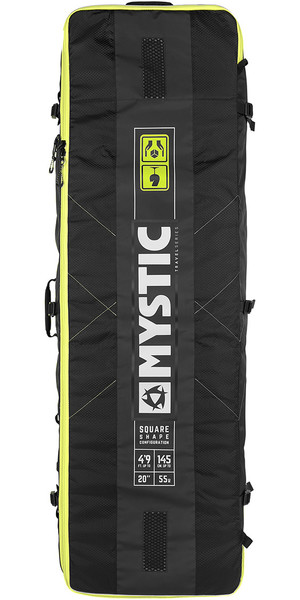 2019 Mystic Elevate Lightweight Square Board Bag 1,45m Schwarz 190055