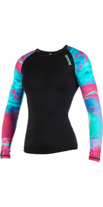2019 Mystic Womens Dazzled Long Sleeve Rash Vest Aurora 190101