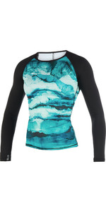 2019 Mystic Womens Dazzled Long Sleeve Rash Vest Mint 190101