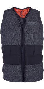 2020 Mystic Legend Front Zip Impact Wake Vest Black 190122