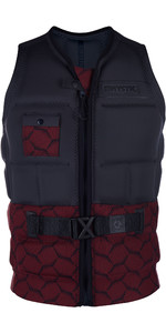 2019 Mystic Supreme Front Zip Impact Wake Weste Dark Red 190124
