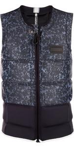 2019 Mystic Magician Front Zip Wake Impact Vest Sort 190127