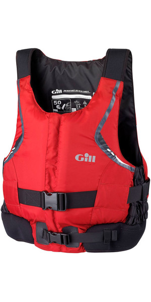 Gill Pro Racer - Chaleco de ayuda a la flotación con cremallera frontal rojo 4917