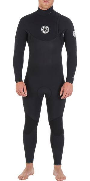 Rip Curl E-Bomb Pro 3/2mm ZIP FREE Wetsuit in BLACK WSM4RE