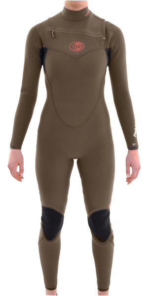 Rip Curl Womens 4 / 3mm Flashbomb pecho traje de neopreno FATIGUE WSM4fG