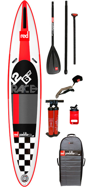 2015 Red Paddle Co 12'6 Race gonflable Stand Up Paddle Board + Sac, Pump, Paddle & LAISSE