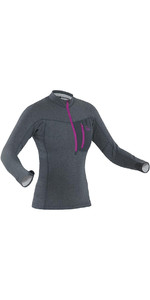 2019 Palm Womens Tsangpo Zipped Thermal Top Jet Grey 11748