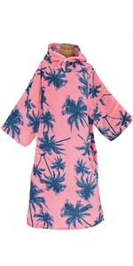 2020 Tls Surf Capuz Em Mudança / Poncho - Pink Palm