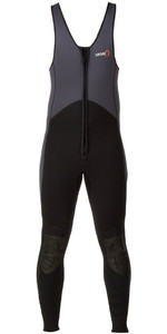 2019 Yak Kayak Front Zip 3mm Long John Wetsuit Cinza / Preto 5403-a