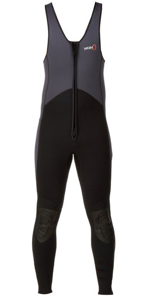 2019 Yak Kayak FRENTE ZIP 3mm Long John Wetsuit Gris / Negro 5403-A