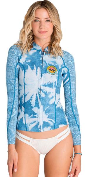 Billabong Ladies Surf Capsule 1mm Peeky Wetsuit Jacket INDIGO Z41G03