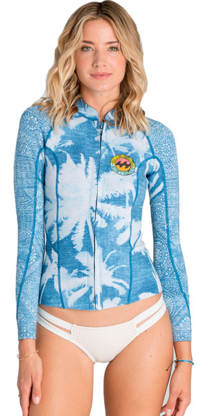 Billabong Womens Surf Capsule 1mm Peeky Wetsuit Jacket INDIGO Z41G03