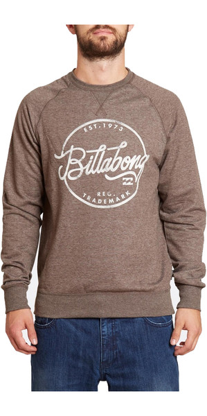 Billabong Sloop sudadera con cuello redondo CHOCOLATE Z1CR01