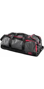 2019 Gill 95L sac de transport à roulettes gris foncé / rouge Détail L067