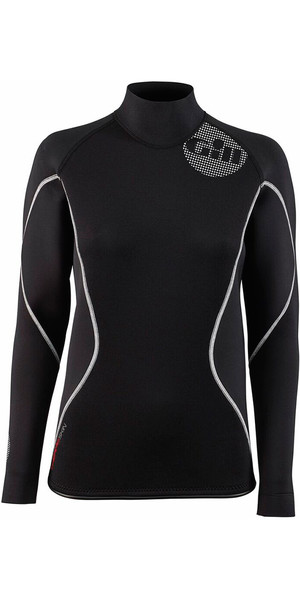 2018 Gill Damen 2.5mm THERMOSKIN Langarm Neopren TOP Schwarz 4616W