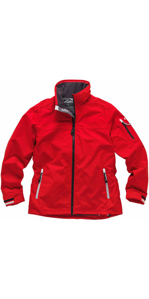 2018 Gill Ladies Crew Jacket en rojo 1041W