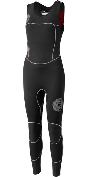 2019 Gill Womens Thermoskin 4 / 3mm GBS Skiff Suit nero 4614W
