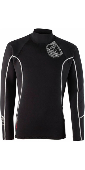 2019 Gill Mens 2,5mm THERMOSKIN manica lunga in neoprene TOP nero 4616