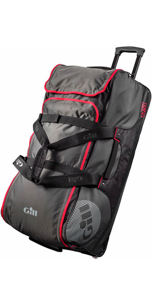 2018 Gill Rolling Jumbo 115L Bag Dark Grey / Red Detail L057