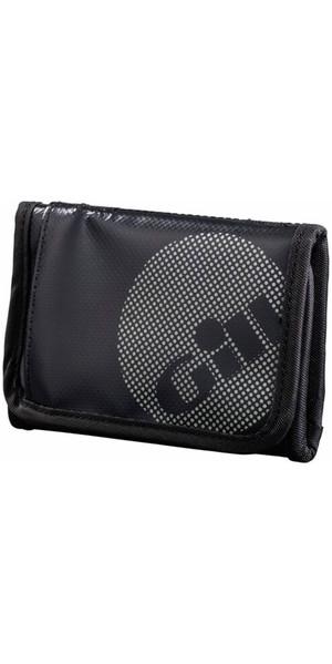 2018 Gill Trifold Wallet JET Black L068 - Nuevo estilo