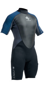 2019 Gul G-Force 3mm Heren Shorty Wetsuit Zwart / Navy GF3305-A9
