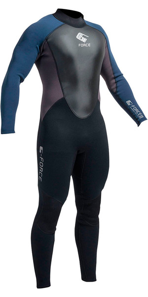 2018 Gul G-Force 3mm Mens Wetsuit Black / Navy GF1305-A9