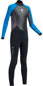 2020 Gul G-Force Junior 3mm Back Zip Flatlock Wetsuit Black / Zafer GF1307-A9