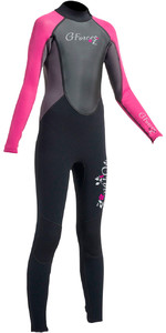 2020 Gul G-force Junior 3mm Flatlock Wetsuit Preto / Rosa Gf1308-a9