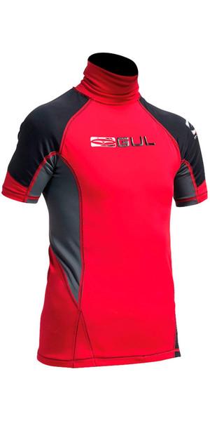 2018 Gul Junior Short Sleeve Rash Vest in Red / Black RG0341-A9
