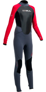 Gul Response 3 / 2mm Junior Flatlock Wetsuit Graphite / Rød RE1322-A9 - 2ND