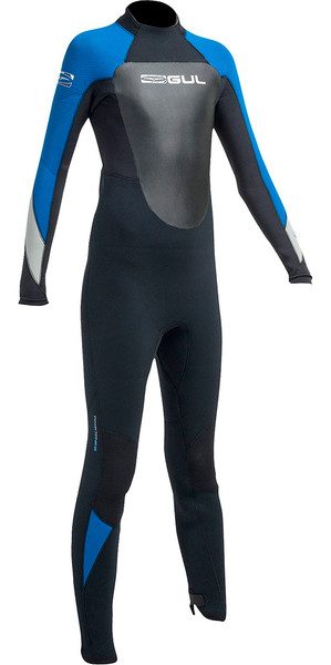 2018 Gul Response 5/3mm Junior Wetsuit Black / Blue RE1218-B1