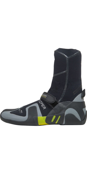2018 Gul Viper 5mm Split Toe Wetsuit Boot Black / YELLOW BO1259-A9