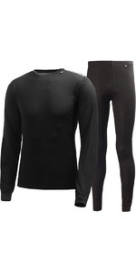 2020 Helly Hansen COMFORT DRY 2-PACK Base Layer NERO 48676