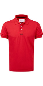 Henri Lloyd Fast Dri Silver Plain Polo Red Y30282