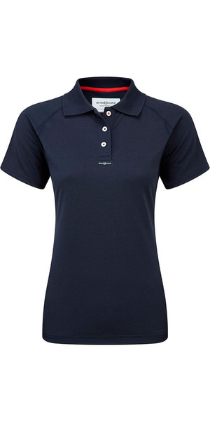 2018 Henri Lloyd Damen Fast Dry Polo T-Shirt in MARINE Y30279
