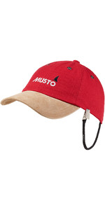 2021 Musto Evo Original Crew Cap in True Red AE0191