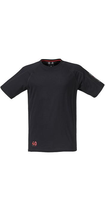 Musto Evolution Logo Kurzarm T-shirt In Schwarz Se1361