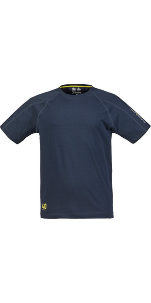 Logo Musto Evolution T-shirt a maniche corte in TRUE NAVY SE1361