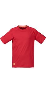 Musto Evolution Logo Kurzarm T-shirt In Echtem Rot Se1361